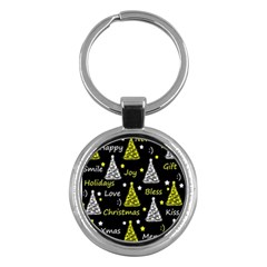 New Year Pattern   Yellow Key Chains (round)  by Valentinaart