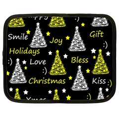 New Year Pattern   Yellow Netbook Case (xl)  by Valentinaart