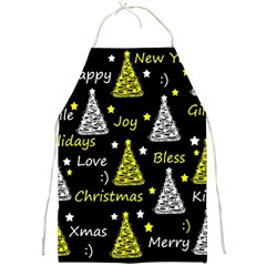 New Year Pattern   Yellow Full Print Aprons by Valentinaart