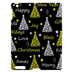 New Year Pattern   Yellow Apple Ipad 3/4 Hardshell Case