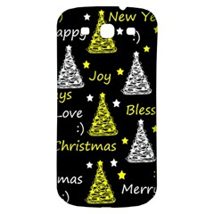 New Year Pattern   Yellow Samsung Galaxy S3 S Iii Classic Hardshell Back Case by Valentinaart