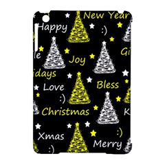 New Year Pattern   Yellow Apple Ipad Mini Hardshell Case (compatible With Smart Cover) by Valentinaart
