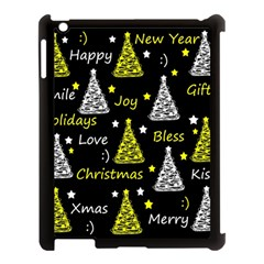 New Year Pattern   Yellow Apple Ipad 3/4 Case (black) by Valentinaart