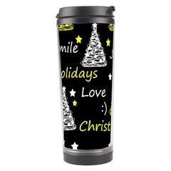 New Year Pattern   Yellow Travel Tumbler by Valentinaart