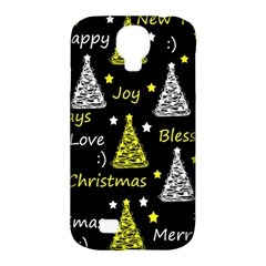 New Year Pattern   Yellow Samsung Galaxy S4 Classic Hardshell Case (pc+silicone) by Valentinaart