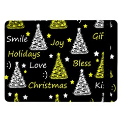 New Year Pattern   Yellow Samsung Galaxy Tab Pro 12 2  Flip Case by Valentinaart