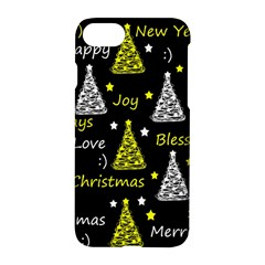 New Year Pattern   Yellow Apple Iphone 7 Hardshell Case by Valentinaart
