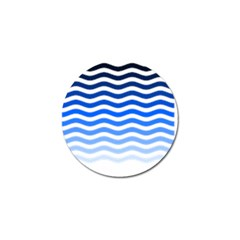 Water White Blue Line Golf Ball Marker (10 Pack) by AnjaniArt