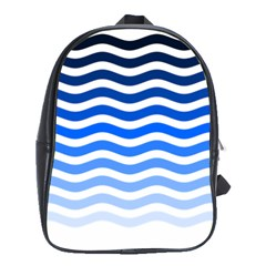 Water White Blue Line School Bags(large)  by AnjaniArt