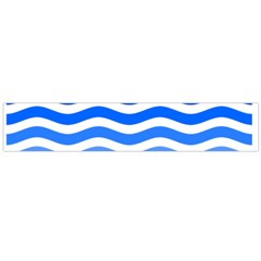 Water White Blue Line Flano Scarf (large)