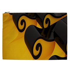 Black Yellow Cosmetic Bag (xxl)