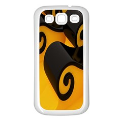Black Yellow Samsung Galaxy S3 Back Case (white)