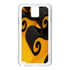 Black Yellow Samsung Galaxy Note 3 N9005 Case (white) by AnjaniArt