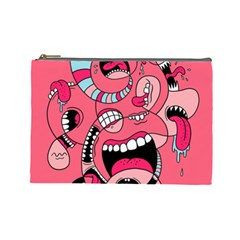 Big Mouth Worm Cosmetic Bag (large)