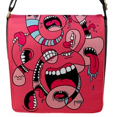 Big Mouth Worm Flap Messenger Bag (s) by AnjaniArt