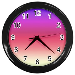 Blue Pink Purple Red Wall Clocks (black) by AnjaniArt