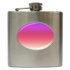 Blue Pink Purple Red Hip Flask (6 Oz) by AnjaniArt