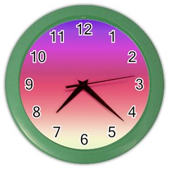 Blue Pink Purple Red Color Wall Clocks by AnjaniArt
