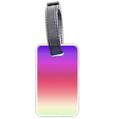 Blue Pink Purple Red Luggage Tags (one Side)  by AnjaniArt