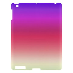 Blue Pink Purple Red Apple Ipad 3/4 Hardshell Case by AnjaniArt