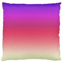 Blue Pink Purple Red Large Cushion Case (two Sides)