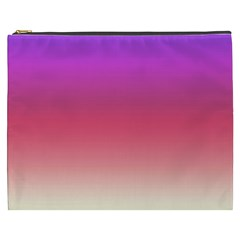 Blue Pink Purple Red Cosmetic Bag (xxxl)