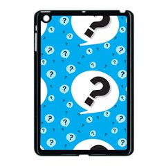 Blue Question Mark Apple Ipad Mini Case (black)