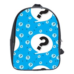 Blue Question Mark School Bags (xl)