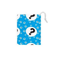 Blue Question Mark Drawstring Pouches (xs)  by AnjaniArt