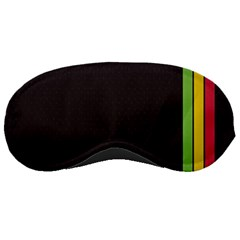 Brown White Stripes Green Yellow Pink Sleeping Masks by AnjaniArt
