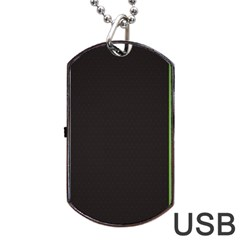 Brown White Stripes Green Yellow Pink Dog Tag Usb Flash (one Side) by AnjaniArt