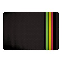 Brown White Stripes Green Yellow Pink Samsung Galaxy Tab Pro 10 1  Flip Case by AnjaniArt