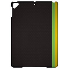 Brown White Stripes Green Yellow Pink Apple Ipad Pro 9 7   Hardshell Case