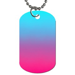Blue Pink Purple Dog Tag (one Side)
