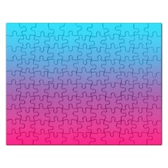 Blue Pink Purple Rectangular Jigsaw Puzzl by AnjaniArt