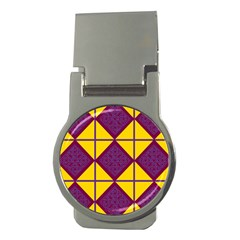 Complexion Purple Yellow Money Clips (round)