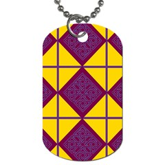 Complexion Purple Yellow Dog Tag (one Side)