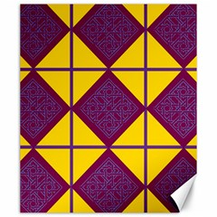 Complexion Purple Yellow Canvas 20  X 24
