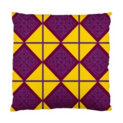 Complexion Purple Yellow Standard Cushion Case (two Sides) by AnjaniArt