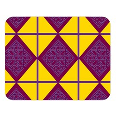 Complexion Purple Yellow Double Sided Flano Blanket (large)