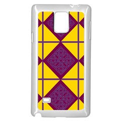 Complexion Purple Yellow Samsung Galaxy Note 4 Case (white)