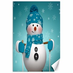Cute Snowman Canvas 24  X 36