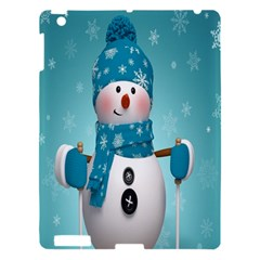 Cute Snowman Apple Ipad 3/4 Hardshell Case by AnjaniArt