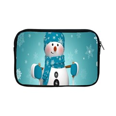 Cute Snowman Apple Ipad Mini Zipper Cases by AnjaniArt