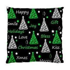 New Year Pattern   Green Standard Cushion Case (two Sides) by Valentinaart