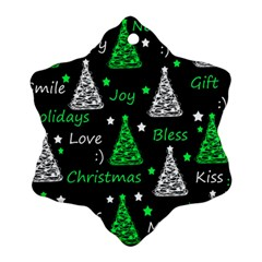 New Year Pattern   Green Ornament (snowflake)