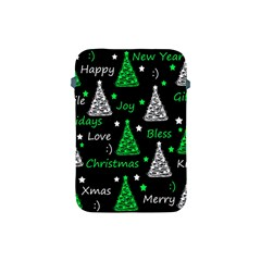 New Year Pattern   Green Apple Ipad Mini Protective Soft Cases by Valentinaart