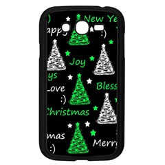 New Year Pattern   Green Samsung Galaxy Grand Duos I9082 Case (black) by Valentinaart