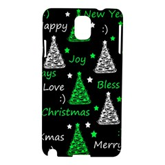 New Year Pattern   Green Samsung Galaxy Note 3 N9005 Hardshell Case by Valentinaart