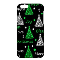 New Year Pattern   Green Apple Iphone 6 Plus/6s Plus Hardshell Case by Valentinaart